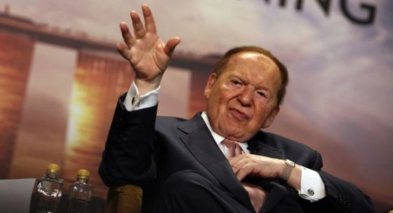 Sheldon Adelson: '[The Olmert government] is an illegitimate government. It must be thrown out.'