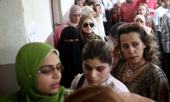Millions of women voted in Egypt's first free presidential election ...