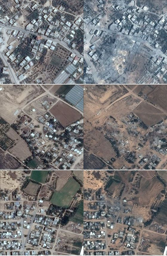 July 6 (left), July 25 (right) Upper - Gaza City Middle - Atatra Lower - Beit Lahiya